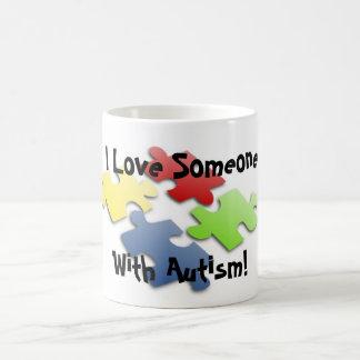 I Love Someone With Autism! Classic White Coffee Mug