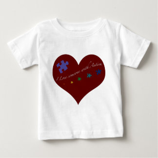 I love someone with Autism Heart T Shirts