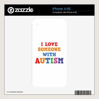 I Love Someone With Autism iPhone 4S Skins