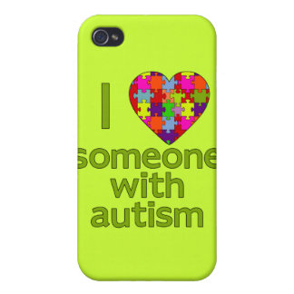 I LOVE SOMEONE WITH AUTISM CASE FOR iPhone 4