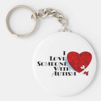 I Love Someone with autism keychain