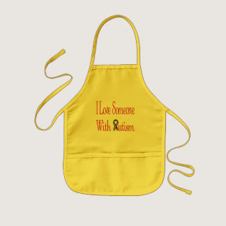 I Love Someone with Autism Kids' Apron
