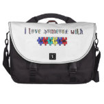 I Love Someone With Autism Laptop Computer Bag