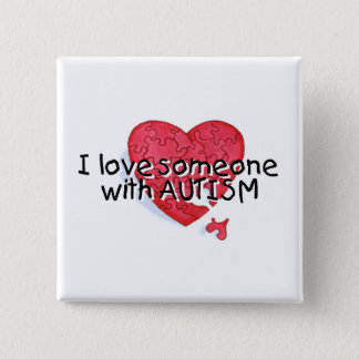 I Love Someone With Autism (P Hrt) Pinback Button