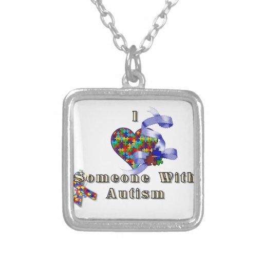 I love someone with autism pendant