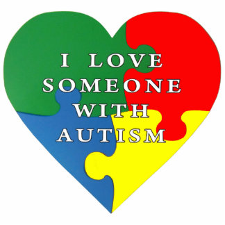 I love someone with Autism Photo Cutouts