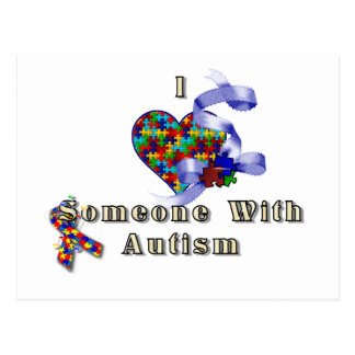 I love someone with autism postcards