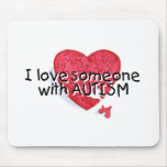 I Love Someone With Autism (Puzzle Heart) Mouse Pad