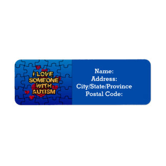 I Love Someone With Autism Return Address Labels