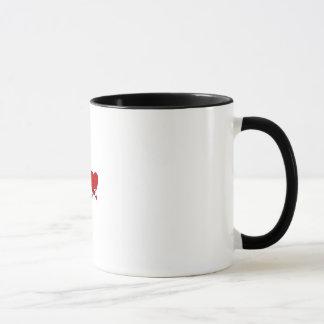 I Love Someone with autism two tone mug