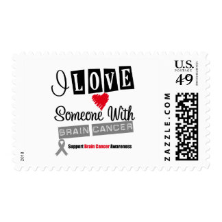 I Love Someone With Brain Cancer Postage Stamp