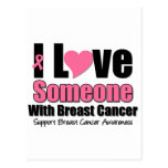 I Love Someone With Breast Cancer Post Cards