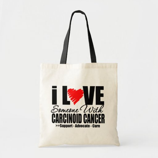 I LOVE Someone with CARCINOID CANCER Gifts Canvas Bag