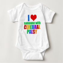 I Love Someone With Cerebral Palsy Baby Bodysuit