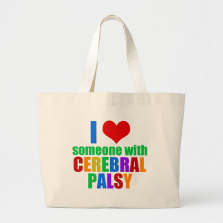 I Love Someone With Cerebral Palsy Large Tote Bag
