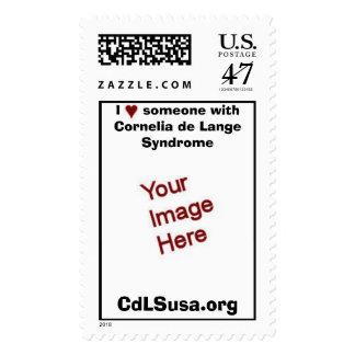 I Love Someone With Cornelia de Lange Syndrome Postage Stamp