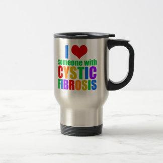 I Love Someone With Cystic Fibrosis Travel Mug