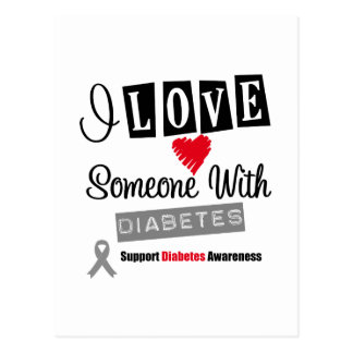 I Love Someone With Diabetes Postcard