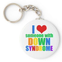 I Love Someone With Down Syndrome Keychain