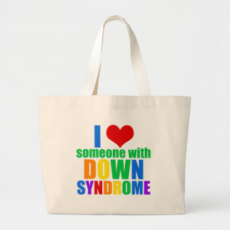 I Love Someone With Down Syndrome Large Tote Bag