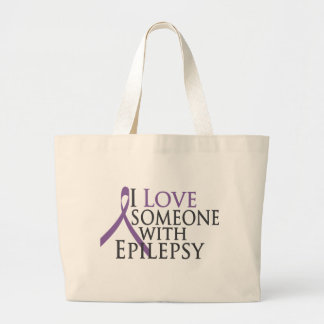i love someone with epilepsy jumbo tote bag