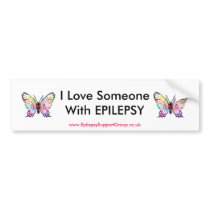I Love Someone With EPILEPSY Bumper Sticker