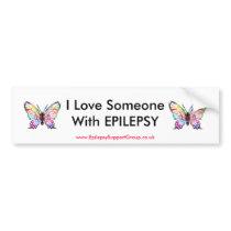 I Love Someone With EPILEPSY Bumper Sticker