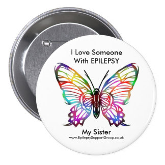 I love someone with epilepsy 3 inch round button