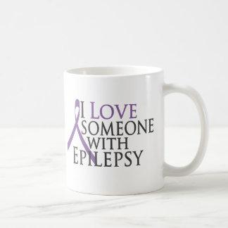 i love someone with epilepsy classic white coffee mug