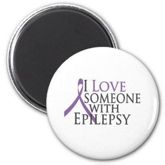 i love someone with epilepsy 2 inch round magnet