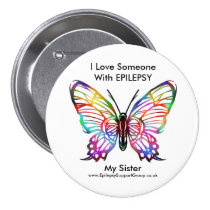 I love someone with epilepsy pinback button
