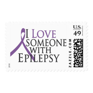 i love someone with epilepsy postage stamps