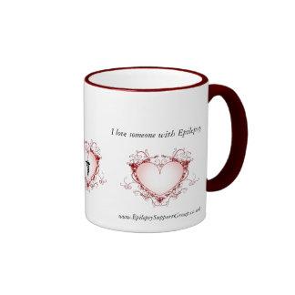 I Love Someone With EPILEPSY Ringer Coffee Mug