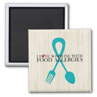 I Love Someone With Food Allergies Magnet WoodBK