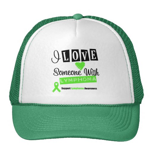 I Love Someone With Lymphoma Mesh Hat