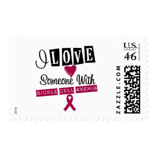 I Love Someone With Sickle Cell Anemia Postage Stamps
