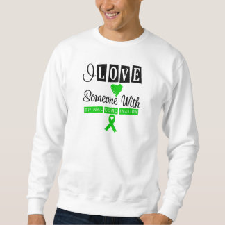 I Love Someone With Spinal Cord Injury Pullover Sweatshirts