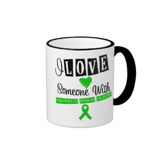 I Love Someone With Traumatic Brain Injury Ringer Mug