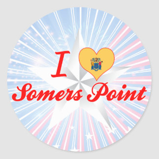 I Love Somers Point, New Jersey Round Stickers
