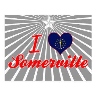 I Love Somerville, Indiana Postcard
