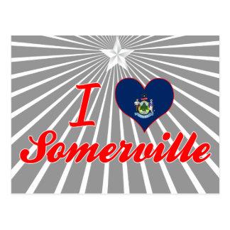 I Love Somerville, Maine Postcard