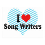 I Love Song Writers Post Card