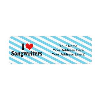 I Love Songwriters Return Address Label