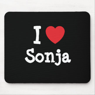 I love Sonja heart T-Shirt Mouse Pads