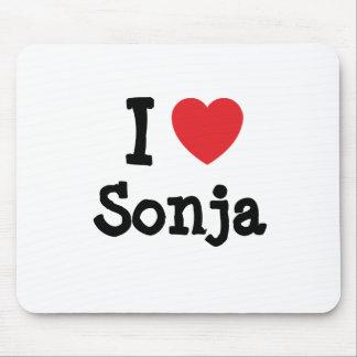 I love Sonja heart T-Shirt Mouse Mat
