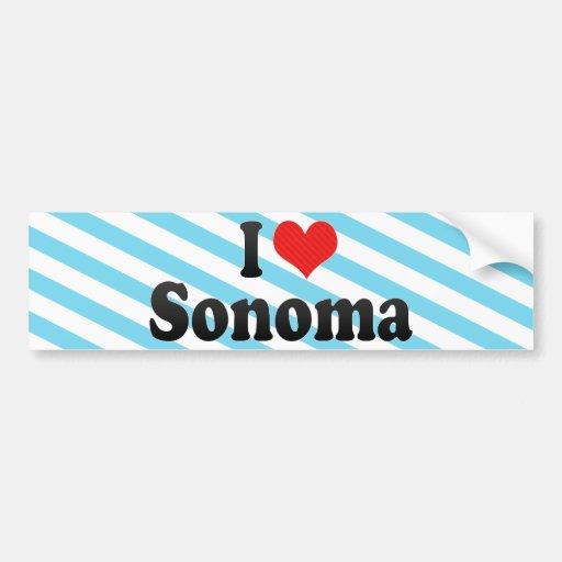 I Love Sonoma Bumper Sticker