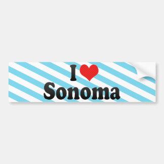 I Love Sonoma Car Bumper Sticker