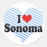 I Love Sonoma Round Stickers
