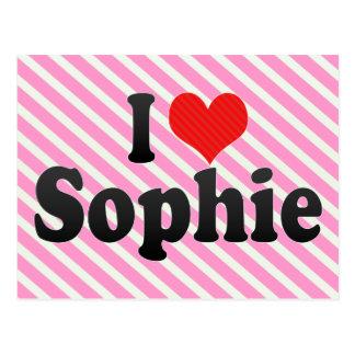 I Love Sophie Postcard