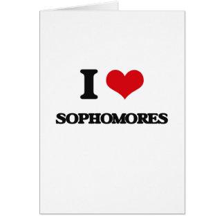 I love Sophomores Greeting Card